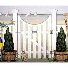 A How To Paint Guide Porthole Gate And Fence Mural Stencil