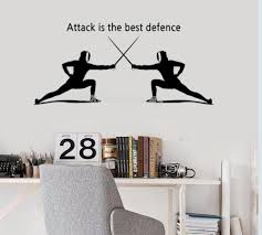 Two Boy Play Fencing Sport Wall Decal Attack Defence Extreme Sport Wall Stickers Fitness Shop Stadium Gym Decoration Mural Wall Sticker Designs Wall Sticker For Kids From Joystickers 11 04 Dhgate Com