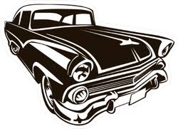 Retro Muscle Car Sticker