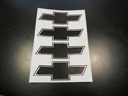 Chevy Wheel Rim Center Cap Logo Decal Brushed Black Sticker Set Of 4 Chevrolet Ebay