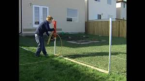 Vinyl Fencing Install Video Straightn Level Fencing Solutions Post Collar Youtube