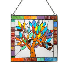 stained glass mystical world tree