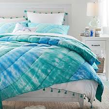 dunes tie dye cotton girls quilt sham