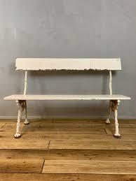 faux bois garden bench