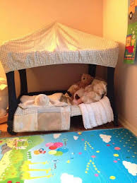 pack n play converted to a toddler bed