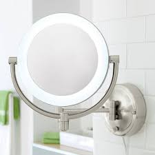 10x 1x natural light wall mirror with