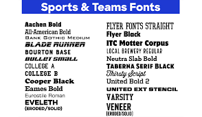 best fonts for team jerseys t shirts
