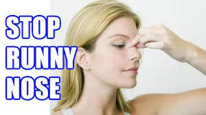 how to stop a runny nose instantly