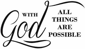 With God All Things Are Possible Wall Decal Sticker Art Spiritual Quote Words 11 94 Picclick
