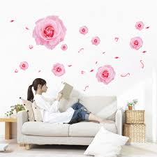 Romantic Flower 3d Effect Wall Sticker Home Decor Living Room Bedroom Floral Wall Decals Mother S Valentine S Day Gift Stickers Home Decor Floral Wall Decalswall Sticker Aliexpress