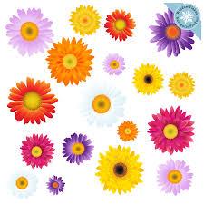 Gerbera Daisy Flower Blooms Window Clings Window Flakes