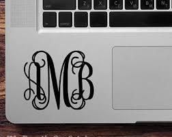 Laptop Monogram Etsy