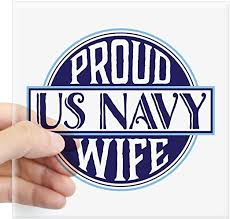 Amazon Com Cafepress Proud Us Navy Wife Square Sticker 3 X 3 Square Bumper Sticker Car Decal 3 X3 Small Or 5 X5 Large Home Kitchen
