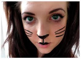 simple cat face with makeup saubhaya