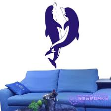 Dolphin Wall Sticker Decal Posters Vinyl Wall Art Decals Decal Decor Mural Wild Animal Sticker Dolphin Car Sticker Wall Stickers Aliexpress