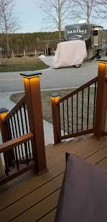 Ornamental Downward Low Voltage Led Post Cap Light By Lmt Mercer Deck Post Lights Outdoor Deck Lighting Diy Deck