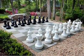 giant plastic chess set with a 25 king