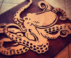 octopus wood art by shaun thomas
