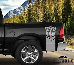 Any Truck Autobot Vinyl Stripes Rear Bed Racing Decals Logo Transformers Sticker Ebay