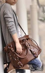 leather satchel handbag brown black