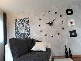 Large Wall Clock Modern Oversized Wall Decal For Office Wall Etsy