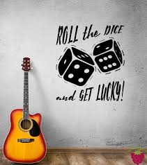 Wall Decal Board Game Dice Amusement Lucky Casino Vinyl Sticker Ed930 Wallstickers4you