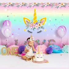 Ourwarm الوردي يونيكورن حفلة عيد ميلاد خلفيات للتصوير الفوتوغرافي