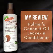 coconut oil leave in conditioner