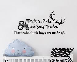 Zoomie Kids Howells Quote Tractors Bucks And Shiny Trucks Deer Antlers Car Wall Decal Reviews Wayfair