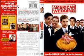 american wedding dvd cover label