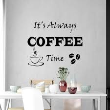 Vwaq Its Always Coffee Time Wall Decals Vinyl Quotes For Kitchen Wall