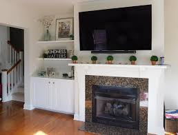 entertainment center with shelves