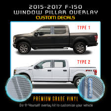 For 2015 2017 Ford F150 F 150 Door Window Pillars Trim Vinyl Glossy Carbon Fiber Ebay