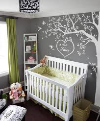 White Tree Decals Large Nursery Tree Decals With Custom Monogram Stunning White Tree Sticker Wall Mural Removable Vinyl Wall Art Kw006w In 2020 Tree Decals Tree Decal Nursery Baby Nursery Decor