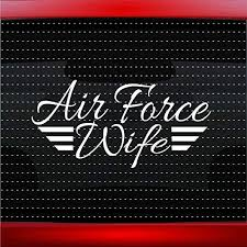 Amazon Com Noizy Graphics Air Force Wife Military Airman Car Sticker Truck Window Vinyl Decal Color Navy Blue Automotive