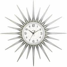 acctim stella starburst wall clock