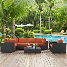 sojourn 7pc outdoor patio sectional set