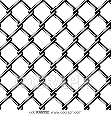 Vector Art Vector Wire Fence Seamless Black Silhouette Clipart Drawing Gg61088332 Gograph
