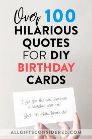 ideas for diy funny birthday cards