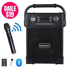 Loa karaoke bluetooth công suất lớn Daile S19 + tặng kèm micro không dây