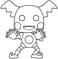 Kleurplaat Funko Pop Pokemon Mr Mime 4