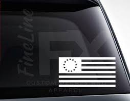 Betsy Ross American Flag 13 Stars Usa Flag Vinyl Decal Sticker