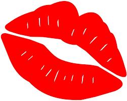 Amazon Com Kiss Mark Lips 5 75 Car Decal Window Sticker Red Automotive