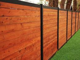 Build A Wood Fence With Metal Posts That S Actually Beautiful In 2020 House Fence Design Fence Design Wood Fence Design