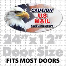 Rural Postal Carrier Magnetic Signs For Us Mail Vehicles
