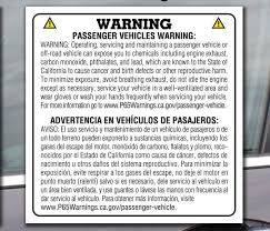 Proposition 65 Stickers For California Us Auto Supplies Us Auto Supplies
