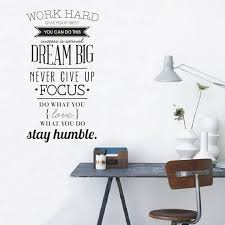 Inspirational Wall Decal Dream Big Focus Stay Humble Large Etsy