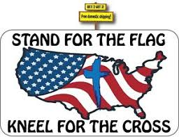 Stand For The Flag Kneel For The Cross Support Our Vets Decal Sticker P63 Ebay