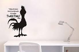 Inspired By Moana Wall Decal Sticker When You Use A Chicken Lucky Girl Decals