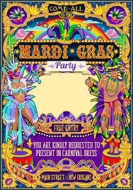 Invitacion Fiestas De Carnaval Carnaval Fiesta Cumpleanos